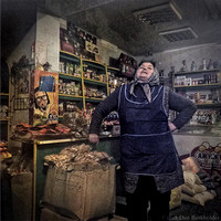 Shopkeeper, Ukraine by Dan Burkholder